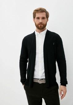 Кардиган, AllSaints, цвет: черный. Артикул: AL047EMJZWF5. Одежда / Джемперы, свитеры и кардиганы / Кардиганы