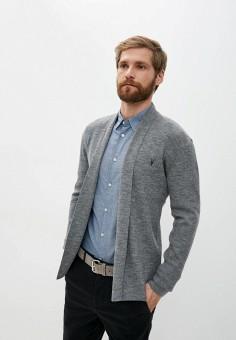 Кардиган, AllSaints, цвет: серый. Артикул: AL047EMJZWF6. Одежда / Джемперы, свитеры и кардиганы / Кардиганы