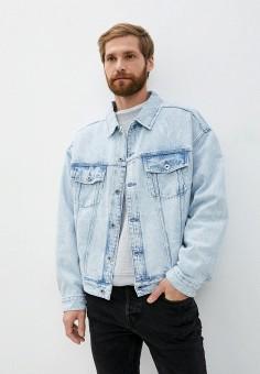 Куртка джинсовая, AllSaints, цвет: голубой. Артикул: AL047EMKAXC5. Одежда / Верхняя одежда / Джинсовые куртки
