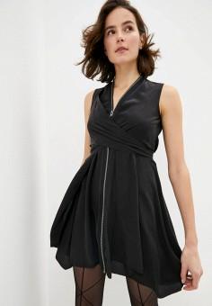 Жилет, AllSaints, цвет: черный. Артикул: AL047EWIBPN8. Одежда / Пиджаки и костюмы
