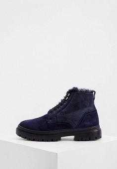 Ботинки, Aldo Brue, цвет: синий. Артикул: AL232AMKFGB2. Обувь / Ботинки