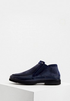 Ботинки, Aldo Brue, цвет: синий. Артикул: AL232AMKFGB4. Обувь / Ботинки / Низкие ботинки