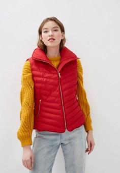Жилет утепленный, Amara Reya, цвет: красный. Артикул: AM026EWHGXM6. Одежда / Верхняя одежда / Жилеты