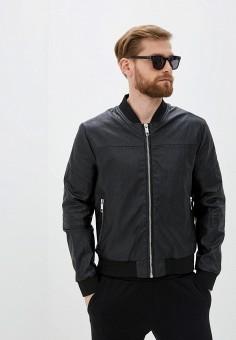 Куртка кожаная, Antony Morato, цвет: черный. Артикул: AN511EMIZPW9. Одежда / Верхняя одежда / Кожаные куртки