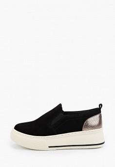 Слипоны, Arezzo, цвет: черный. Артикул: AR036AWIKYT5. Обувь / Слипоны