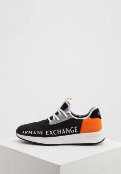 Кроссовки, Armani Exchange, цвет: черный. Артикул: AR037AMHOIN8.