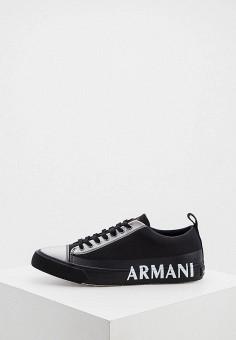 Кеды, Armani Exchange, цвет: черный. Артикул: AR037AMJGVR3.