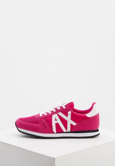 Кроссовки, Armani Exchange, цвет: розовый. Артикул: AR037AWHOIO7.