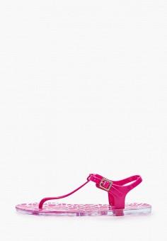 Сандалии, Armani Exchange, цвет: розовый. Артикул: AR037AWHOIP6. Обувь / Резиновая обувь