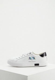 Кеды, Armani Exchange, цвет: белый. Артикул: AR037AWJUOD6.
