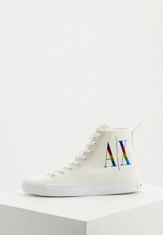Кеды, Armani Exchange, цвет: белый. Артикул: AR037AWJYDF6.
