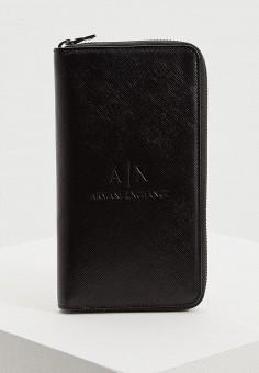 Кошелек, Armani Exchange, цвет: черный. Артикул: AR037BMBKSC3.