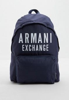 Рюкзак, Armani Exchange, цвет: синий. Артикул: AR037BMFXNP8. Аксессуары / Рюкзаки