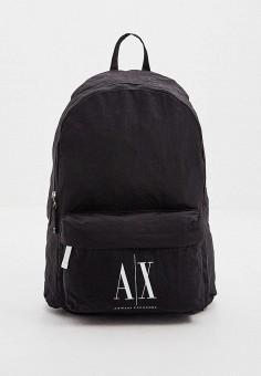 Рюкзак, Armani Exchange, цвет: черный. Артикул: AR037BMHOIK1. Аксессуары / Рюкзаки