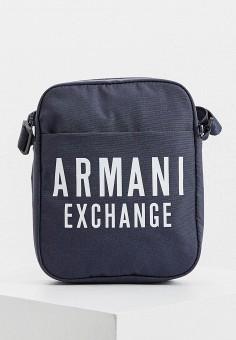 Сумка, Armani Exchange, цвет: синий. Артикул: AR037BMHOIK7.