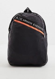 Рюкзак, Armani Exchange, цвет: черный. Артикул: AR037BMHOIL2. Аксессуары / Рюкзаки