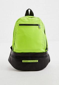 Рюкзак, Armani Exchange, цвет: желтый. Артикул: AR037BMHOIL5. Аксессуары / Рюкзаки