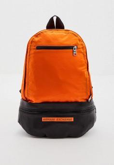 Рюкзак, Armani Exchange, цвет: оранжевый. Артикул: AR037BMHOIL6. Аксессуары / Рюкзаки