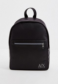 Рюкзак, Armani Exchange, цвет: черный. Артикул: AR037BMHOIL8. Аксессуары / Рюкзаки