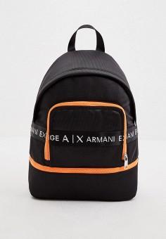 Рюкзак, Armani Exchange, цвет: черный. Артикул: AR037BMHOIL9. Аксессуары / Рюкзаки