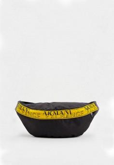Сумка поясная, Armani Exchange, цвет: черный. Артикул: AR037BMJUNU4.