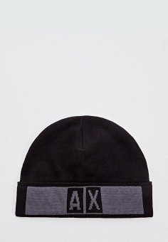 Шапка, Armani Exchange, цвет: черный. Артикул: AR037CMFXNQ4. Аксессуары / Головные уборы