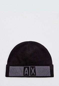 Шапка, Armani Exchange, цвет: черный. Артикул: AR037CMFXNQ4.