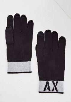 Перчатки, Armani Exchange, цвет: синий. Артикул: AR037DMFXNQ1. Аксессуары / Перчатки и варежки
