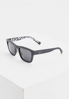 Очки солнцезащитные, Armani Exchange, цвет: серый. Артикул: AR037DMHFTO5.