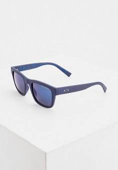 Очки солнцезащитные, Armani Exchange, цвет: синий. Артикул: AR037DMHFTP2.
