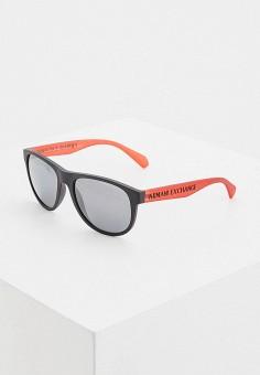 Очки солнцезащитные, Armani Exchange, цвет: черный. Артикул: AR037DMITVW2.