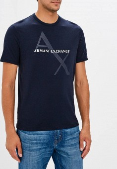 Футболка, Armani Exchange, цвет: синий. Артикул: AR037EMBLDQ0. Armani Exchange