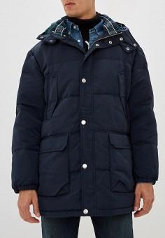 Пуховик, Armani Exchange, цвет: синий. Артикул: AR037EMFXNV1. Одежда / Верхняя одежда / Пуховики и зимние куртки / Пуховики