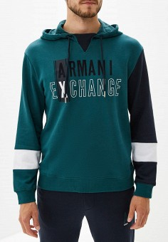 Худи, Armani Exchange, цвет: зеленый. Артикул: AR037EMFXNV7. Armani Exchange