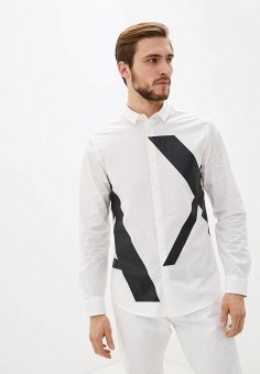 Рубашка, Armani Exchange, цвет: белый. Артикул: AR037EMHOOT1.