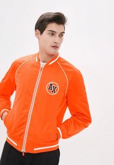Куртка утепленная, Armani Exchange, цвет: оранжевый. Артикул: AR037EMHOTB2.