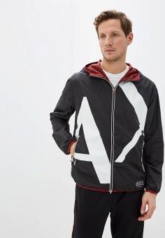Куртка утепленная, Armani Exchange, цвет: бордовый, черный. Артикул: AR037EMHOTB3.