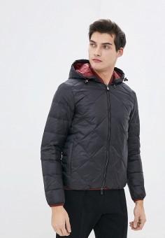 Пуховик, Armani Exchange, цвет: черный. Артикул: AR037EMHOTB6. Одежда / Верхняя одежда / Пуховики и зимние куртки / Пуховики