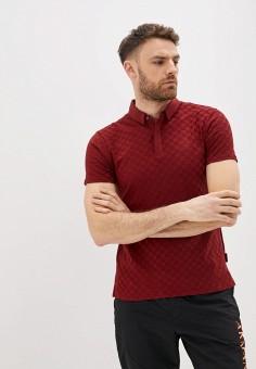 Поло, Armani Exchange, цвет: бордовый. Артикул: AR037EMHOTD2. Одежда / Футболки и поло