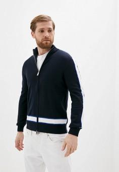 Кардиган, Armani Exchange, цвет: синий. Артикул: AR037EMHOTM6. Одежда / Джемперы, свитеры и кардиганы / Кардиганы