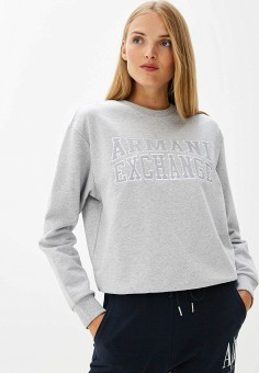 Свитшот, Armani Exchange, цвет: серый. Артикул: AR037EWFXUR7. Armani Exchange