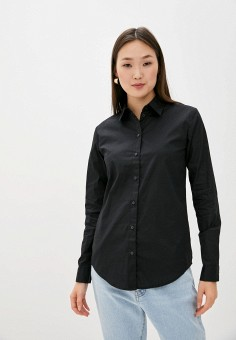 Рубашка, Armani Exchange, цвет: черный. Артикул: AR037EWHOOJ7. Одежда / Блузы и рубашки / Рубашки