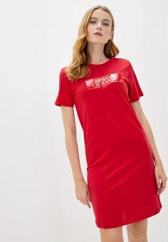 Платье, Armani Exchange, цвет: красный. Артикул: AR037EWJUOQ3.