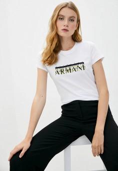 Футболка, Armani Exchange, цвет: белый. Артикул: AR037EWJUPM5.