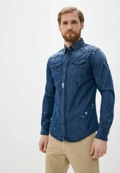 Рубашка джинсовая, Armani Jeans, цвет: синий. Артикул: AR411EMJBOI4.