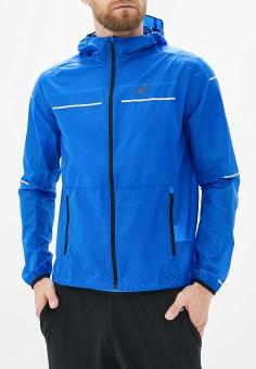 Ветровка, ASICS, цвет: синий. Артикул: AS455EMGOUZ5. Одежда / Верхняя одежда / Легкие куртки и ветровки