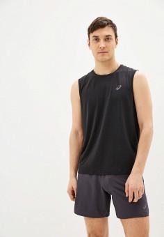 Майка спортивная, ASICS, цвет: черный. Артикул: AS455EMHVHP1. Одежда / Майки