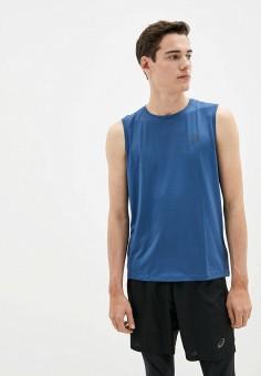 Майка спортивная, ASICS, цвет: синий. Артикул: AS455EMHVHP2. Одежда / Майки
