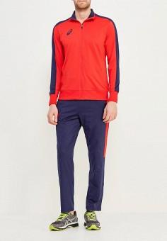 Костюм спортивный, ASICS, цвет: красный, синий. Артикул: AS455EMZTE21.