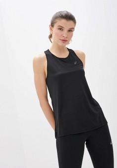 Майка спортивная, ASICS, цвет: черный. Артикул: AS455EWHVIN1. Одежда / Топы и майки